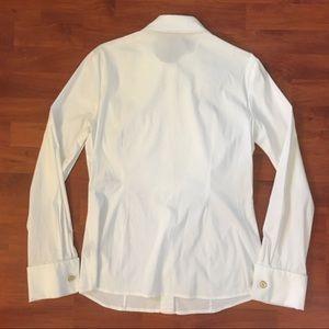 Adrienne Vittadini Tops - Adrienne Vittadini White Button Down Ruffle Shirt